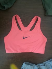 pink and black Nike sports bra Surrey