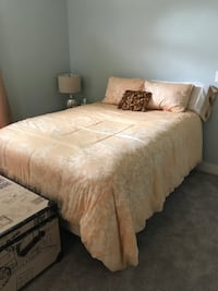 beige and white floral comforter set Westfield, 46074