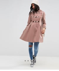 Blush pea coat