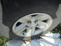 Four 2002 Dodge Club Cab tires and wheels  17 inch BARRE