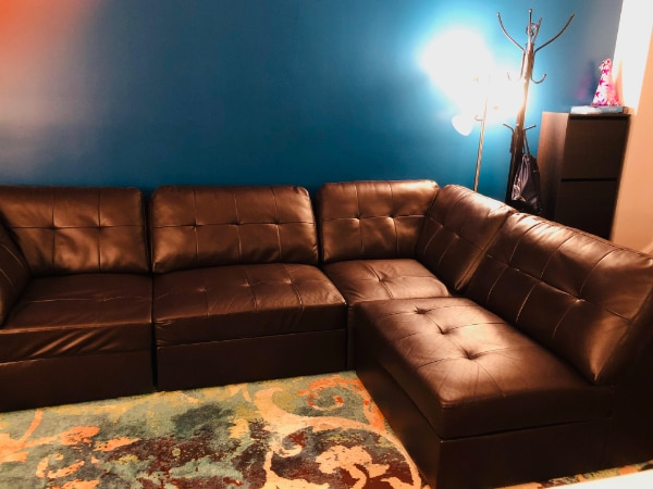 Sectional Sofa Set #dark brown #Excellent Condition 3