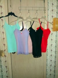 6 Brand new Tank tops with tags size M 7-9 Orange, 77630