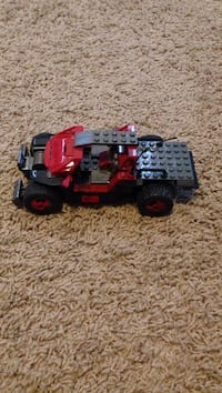 Red and black building block toy car Calgary, T3L 0B5