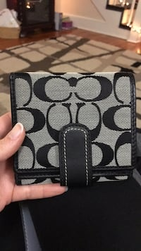 Coach Wallet, Black and grey Frederica, 19946