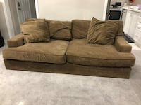 Faux Suede Couch with Ottoman Brampton, L7A