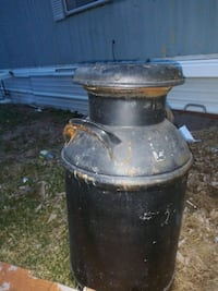 black and brown metal container