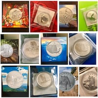 Assorted round coins in box Vancouver, V5R 4H1