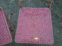 pink metal  chairs  null