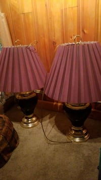 two black-and-white table lamps Kitchener