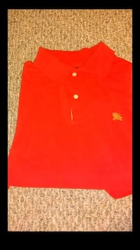 Red Mens Burberry YSL Polo Shirt 55 mi