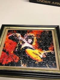 Led Zeppelin Jimmy page framed puzzle RARE Caledonia, 53402