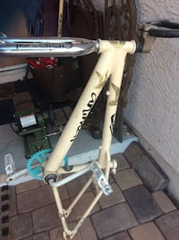 BMX Frame, wellgo pedals, haro bar, stickers r animals for fun