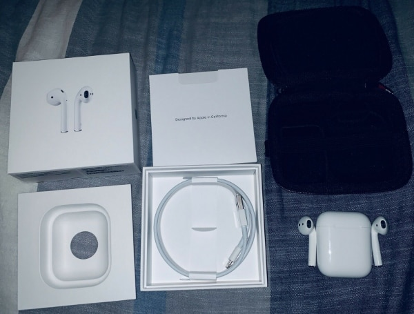 Apple AirPods 2nd Generation, & Carrying Case