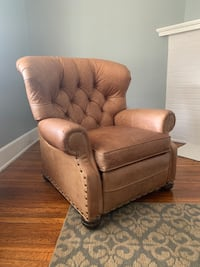 Chair brown leather recliner