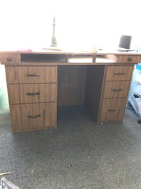 Sewing machine table, plywood construction. Colton, 97017