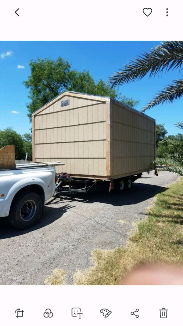 Portable building transporting 1