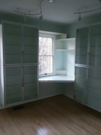 white wooden wardrobe with mirror 17 mi