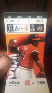 Giants tickets And parking pass Sacramento, 95842
