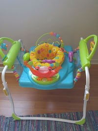 baby's green and blue jumperoo Mississauga, L5C 3K2