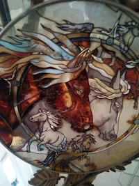 Horse in stained glass