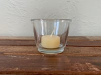 67 clear glass votives