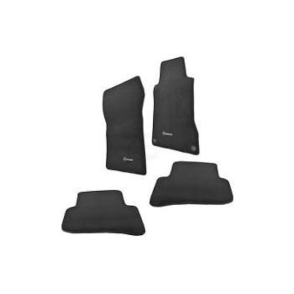 black car floor mat set