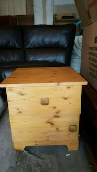 All wood side table