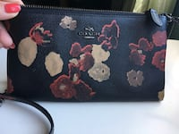 Black and pink floral leather wallet Newmarket, L3X 2C2