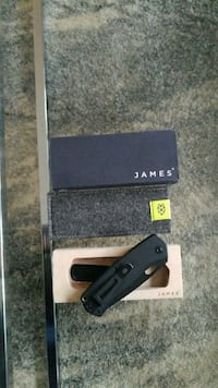 James folsom black G10 foldable knife Reston, 20190