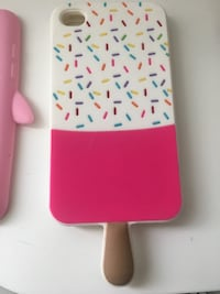 Pink and white sprinkles printed phone case San Diego, 92128