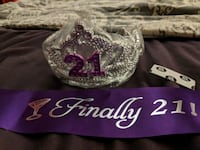 21st Birthday Crown and Sash Omaha, 68104
