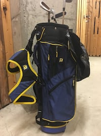 blue and black Wilson kids golf bag. Very nice conditions