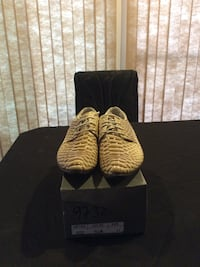 Faux snake skin shoes