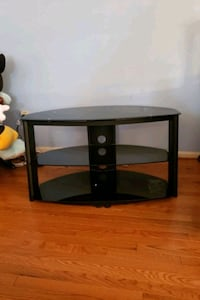 3 Tier Tempered Glass & Metal Media Shelf  Reisterstown