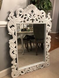 """""""SERIOUS BUYERS ONLY"""" 43""""X29"""" large Ornate Hand CarvedVery Antique Wooden Mirror In Old White Finish Gainesville, 20155"""