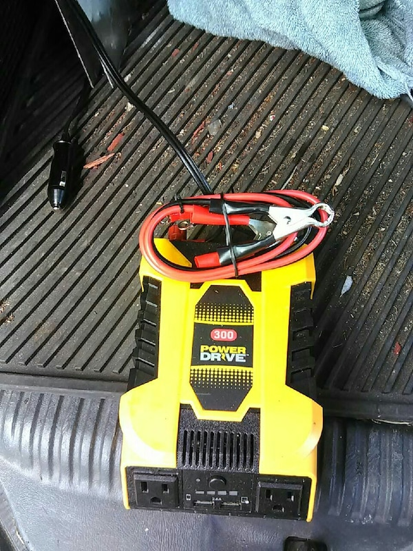 yellow and black Power Drive jump starter