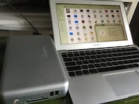 "Macbook air 11"" + external 250 GB hard disk"