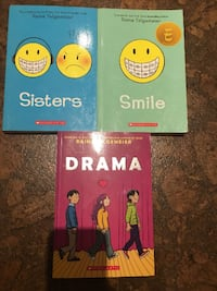 SISTERS, SMILE AND DRAMA BY RAINA TELGEMEIER Ajax