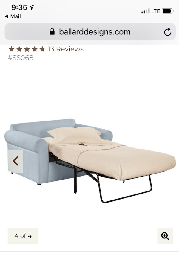 Twin Sleeper Chair-super comfy, perfect for kids sleepovers