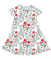white, red, and green floral sleeveless dress Bunker Hill, 25413