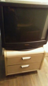 Old tv with bedsidetable  Edmonton, T5H 0T4