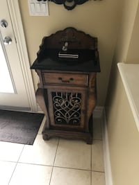 black wooden 2-drawer nightstand Vaughan, L6A 3S2