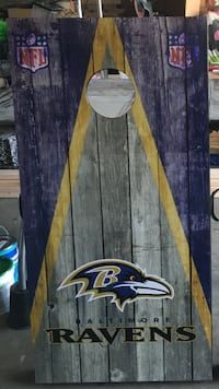 Custom made Ravens cornhole set York, 17408