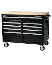 Husky 46 in. 9-Drawer Mobile Workbench in Black Herndon, 20171