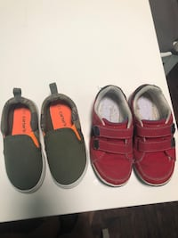 two pairs of red and black leather loafers Brooklyn, 44144