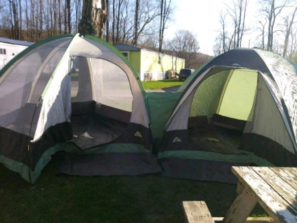 2 large dome tents