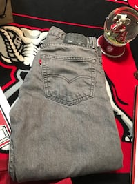 Boys Gray Levi jeans Alabaster, 35007