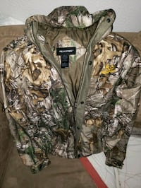 brown and green camouflage zip-up jacket Calgary, T2B 1X4
