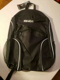 black and white Adidas backpack 50 km
