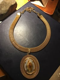 Polished Opihi shell pendant and choker in 18kt gp Ewa Gentry, 96706